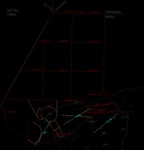 Rood = Oefen gebieden, TRA01 t/m 10 + EHR02. Geel = Cornfield Area (EHR04). *Klik op plaatje*